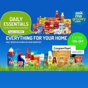 Askmegrocery Coupons and Offers – Rs. 300 off on Rs. 1500 + 10% Cashback