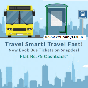 Snapdeal Bus Tickets Booking Rs 75 Cashback Freecharge Wallet