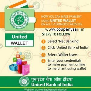 United Wallet Cashback Offers : Add Rs 250 and get Rs 25 Cashback