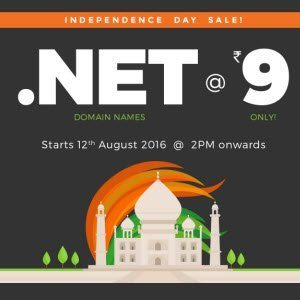 BigRock .Net Domain Rs. 9 for 1 Year [2PM 12th Aug]