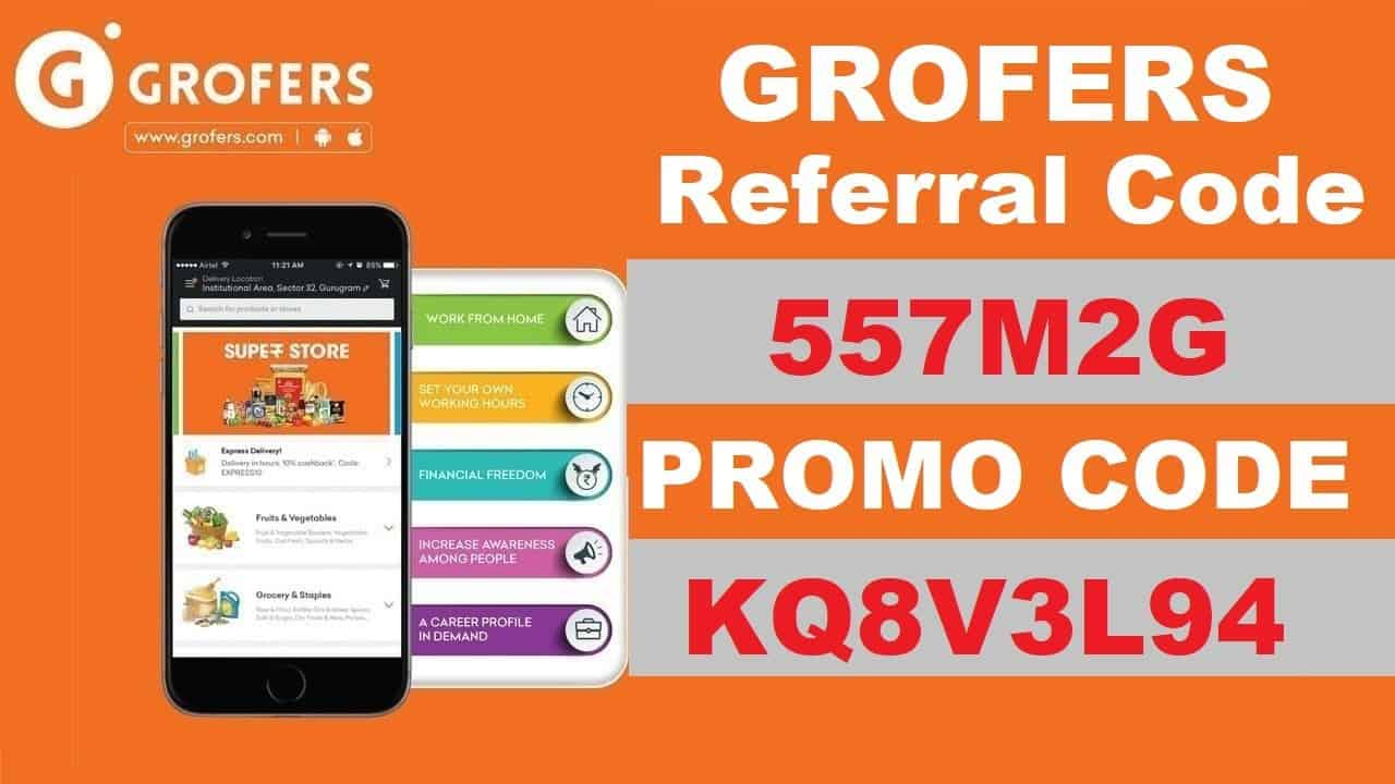 Download APK Grofers Referral Code: 557M2G Get Free Up to Rs 100 Credit