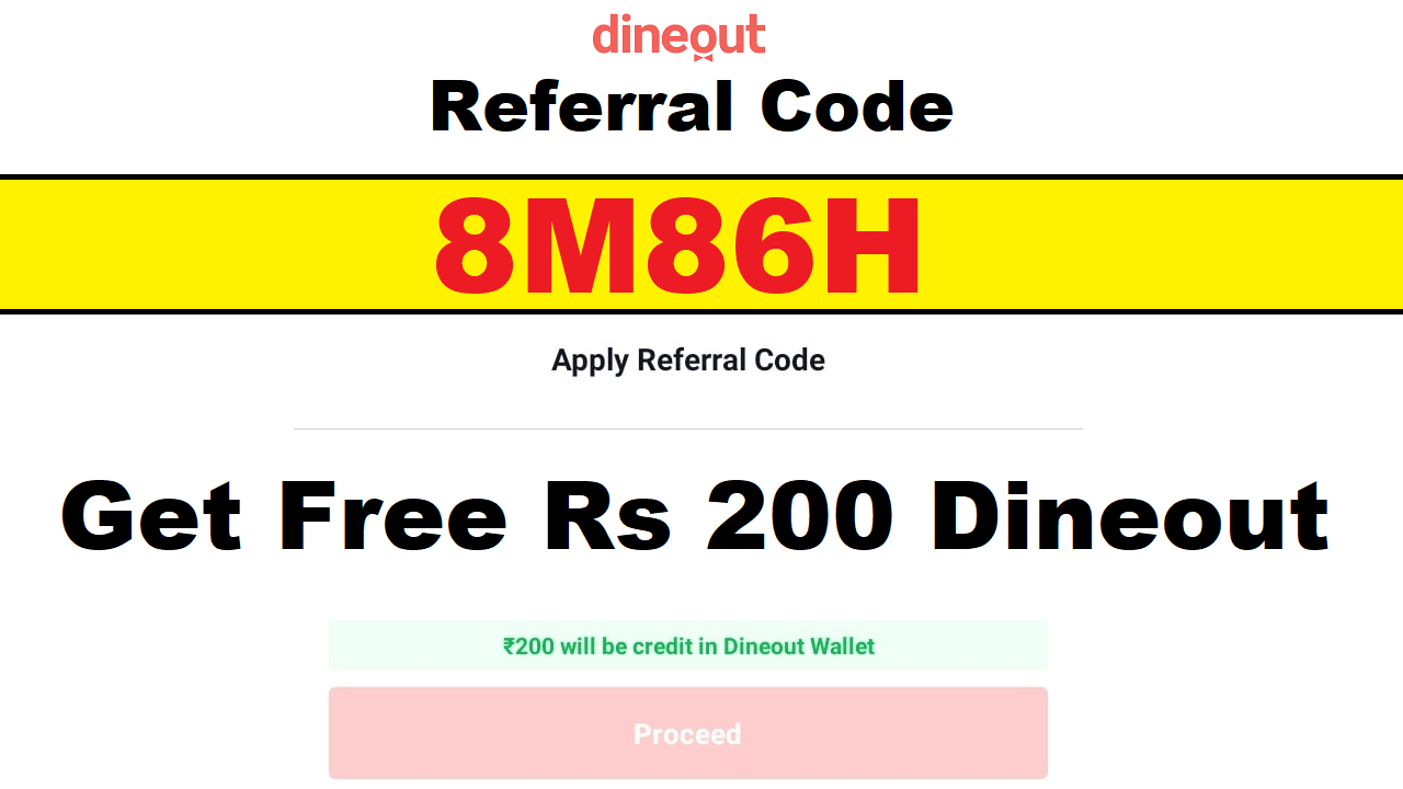 Download DineOut Referral Code to Get Free Rs 100 & Earn Rs 100