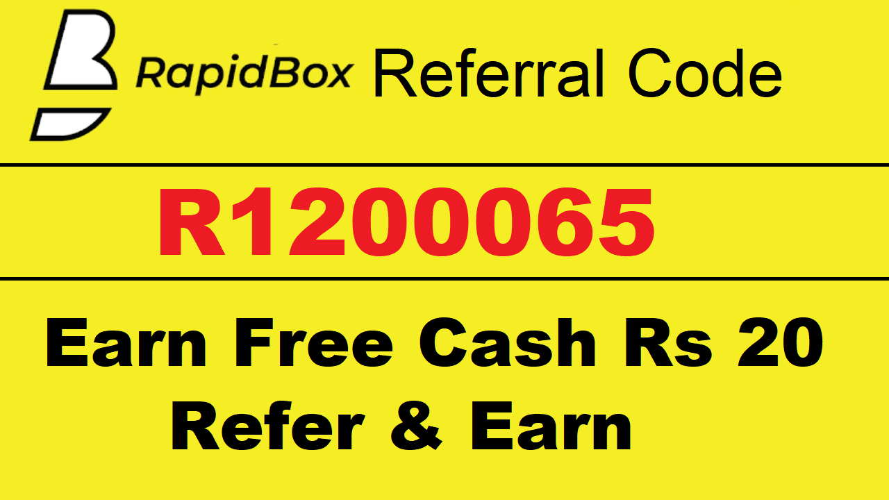 Download APK Rapidbox Referral Code Earn Free ₹20 on Sign up+ ₹10/R