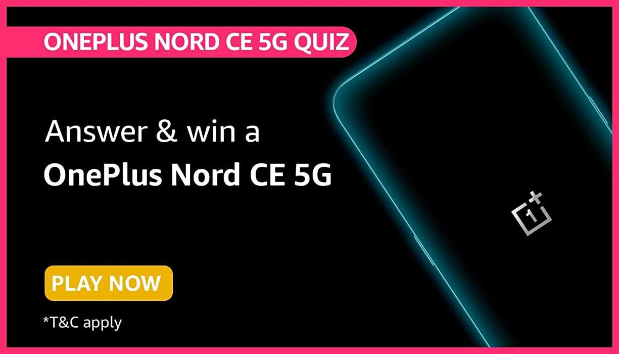 Amazon Oneplus Nord CE 5G Quiz Answers 2021