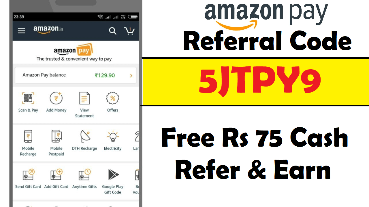 Download APK Amazon Pay UPI Referral Code Earn Free ₹75 Cash