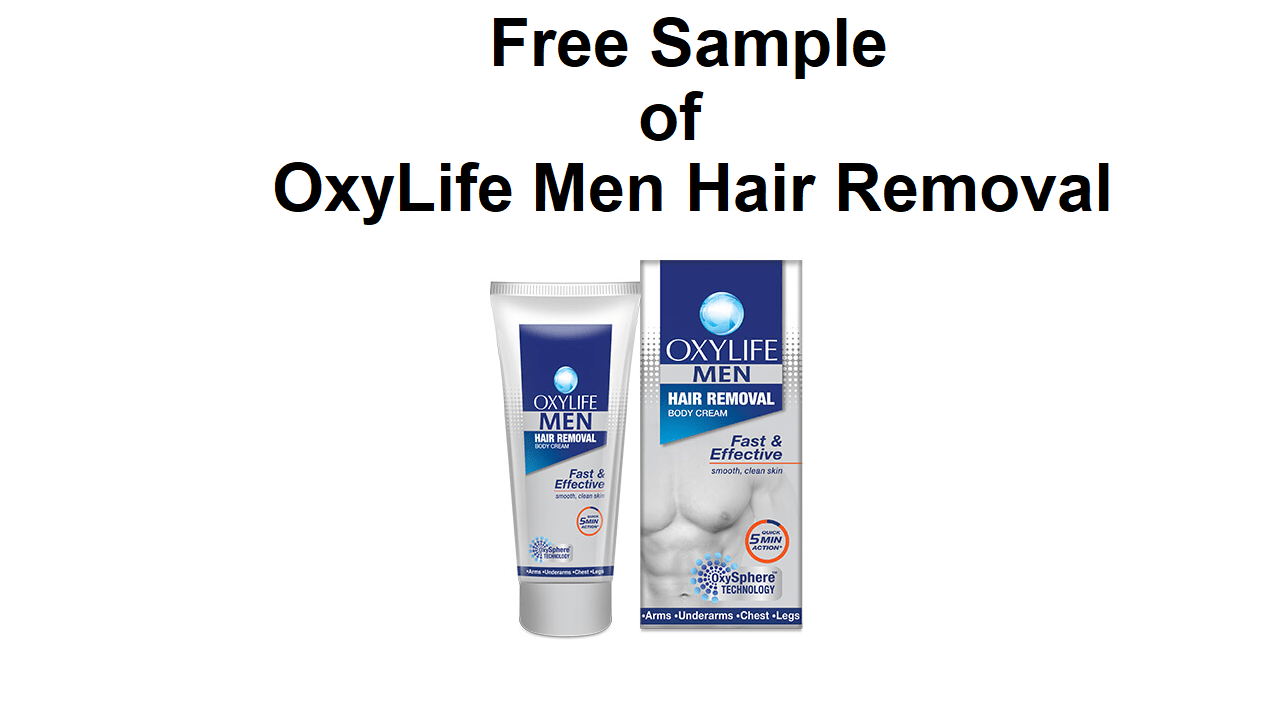 Free Sample of OxyLife Men Hair Removal Cream for All Users Loot Offer