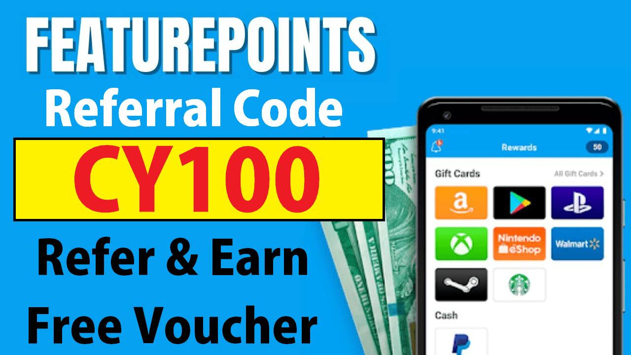 Feature Points Referral Code Earn Free 100 Coins + Refer & Earn